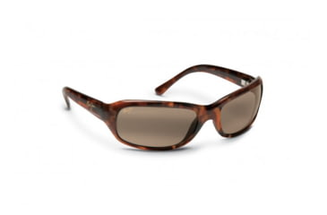 Maui Jim Lagoon Sunglasses w/ Dark Brown Frame and HCL Bronze Lenses - H189-26, Quarter View