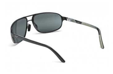 Maui Jim Lahainaluna Sunglasses w/ Black Frame and Neutral Grey Lenses - 232-02, Back View