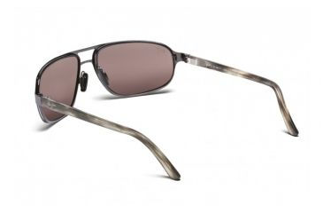 Maui Jim Lahainaluna Sunglasses w/ Brushed Silver Frame and Maui Rose Lenses - R232-17, Back View