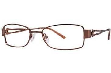 LAmy Adrienne Single Vision Prescription Eyeglasses - Frame Brown/Orange, Size 52/17mm LYADRIENNE01