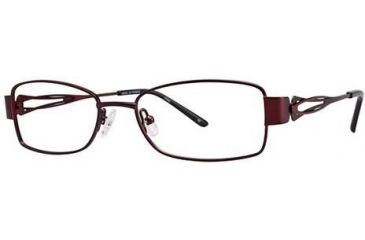 LAmy Adrienne Single Vision Prescription Eyeglasses - Frame Burgundy/Red, Size 52/17mm LYADRIENNE02