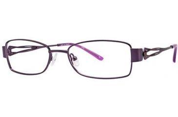 LAmy Adrienne Bifocal Prescription Eyeglasses - Frame Purple Brown, Size 52/17mm LYADRIENNE03