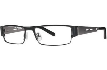 LAmy Andre Single Vision Prescription Eyeglasses - Frame Black/Pewter, Size 54/17mm LYANDRE01
