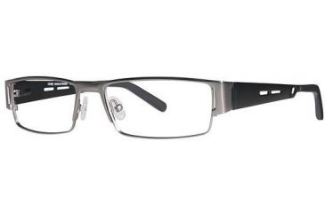 LAmy Andre Single Vision Prescription Eyeglasses - Frame Pewter/Black, Size 54/17mm LYANDRE03