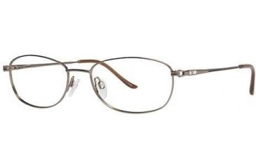 LAmy C by L'Amy 500 Single Vision Prescription Eyeglasses - Frame Brown, Size 53/17mm CYCBL50002
