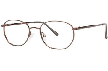 LAmy C by L'Amy 601 Single Vision Prescription Eyeglasses - Frame Brown, Size 50/19mm CYCBL60102