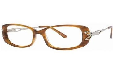 LAmy C by L'Amy 824 Eyeglass Frames - Frame Marbled Brown, Size 51/15mm CYCBL82401
