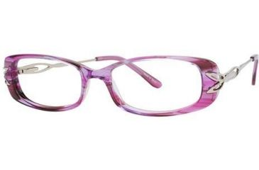 LAmy C by L'Amy 824 Eyeglass Frames - Frame Marbled Fuchsia, Size 51/15mm CYCBL82402