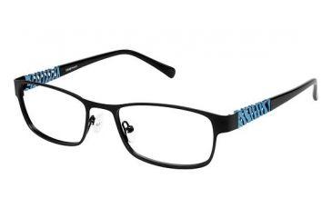 LAmy Cadence Progressive Prescription Eyeglasses - Frame Matte Black / Light Blue LYCADENCE01