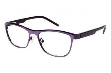 LAmy Charlotte Eyeglass Frames - Frame Matte Light Purple/Eggplant, Size 53/16mm LYCHARLOTTE02