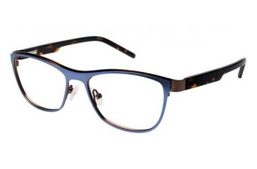 LAmy Charlotte Eyeglass Frames - Frame Matte Navy/Chocolate Brown, Size 53/16mm LYCHARLOTTE03