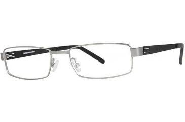 LAmy Dasko 1015 Eyeglass Frames - Frame Matte Silver/Black, Size 55/18mm LYDASKO101506