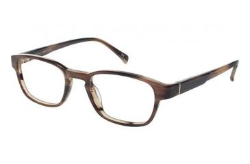 LAmy Henri Progressive Prescription Eyeglasses - Frame Brown Horn, Size 48/19mm LYHENRI03