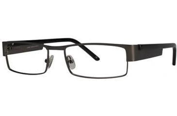 LAmy Jacques Bifocal Prescription Eyeglasses - Frame Pewter/Black, Size 55/17mm LYJACQUES01