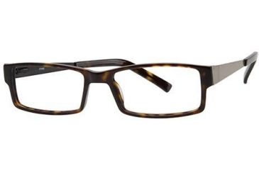LAmy Julian Single Vision Prescription Eyeglasses - Frame Brown Tortoise, Size 55/17mm LYJULIAN01