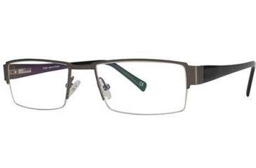 LAmy Laurent Bifocal Prescription Eyeglasses - Frame Brushed Pewter/Black LYLAURENT03