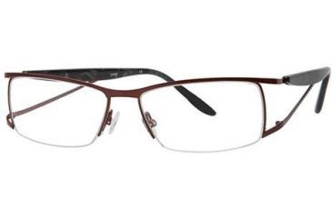 LAmy LeafUS 1012 Single Vision Prescription Eyeglasses - Frame Claret/Light Grey, Size 52/15mm LYLEAFUS101203