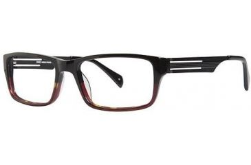 LAmy Tristan Single Vision Prescription Eyeglasses - Frame BLACK/ RED FADE, Size 54/17mm LYTRISTAN04