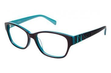 LAmy Zoe Progressive Prescription Eyeglasses - Frame Chestnut/Teal, Size 53/15mm LYZOE02