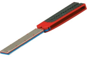 Lansky Sharpeners Double Folding Diamond Paddle M/F, Red LDFPMF