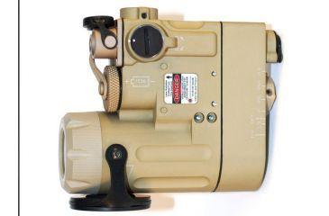 Laser Devices Dual Beam Aiming Laser w/ Green Visible Laser, IR Pointer, IR Illuminator, Desert Tan