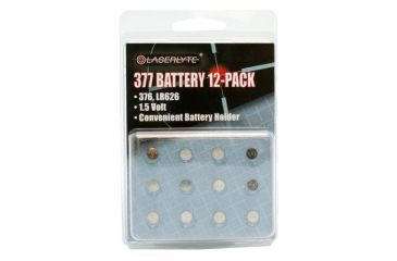 Laserlyte Twelve Pack of 377 Replacement Batteries BAT-377