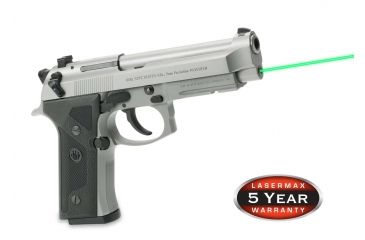 1-LaserMax Green Laser Sight for Beretta 92, 96 and Taurus 92, 99, 100, 101