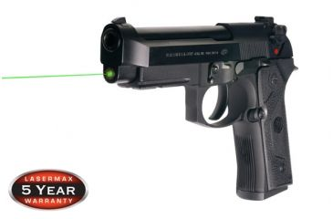 3-LaserMax Green Laser Sight for Beretta 92, 96 and Taurus 92, 99, 100, 101
