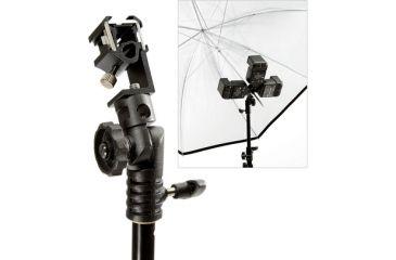 Lastolite Camera Lighting Equipment LastoliteTriflash Three Pocketflash Shoe w/Umbrella Tilt head LL-LA2412