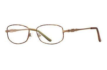 Laura Ashley Darcie SELA DARC00 Progressive Prescription Eyeglasses - Blonde SELA DARC005335 GO