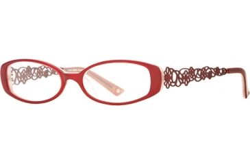 Laura Ashley Evelyn SELA EVEL00 Single Vision Prescription Eyeglasses - Cranberry SELA EVEL005240 RD