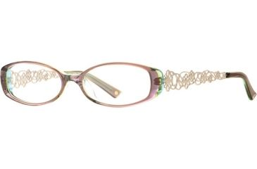 Laura Ashley Evelyn SELA EVEL00 Single Vision Prescription Eyeglasses - Honey SELA EVEL005240 BN