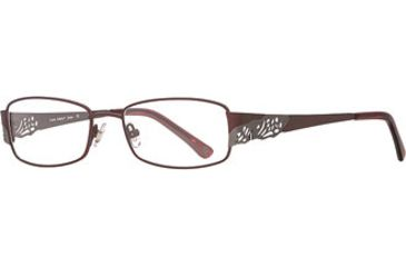 Laura Ashley Jenna SELA JENA00 Single Vision Prescription Eyewear - Bordeaux SELA JENA005240 BUR
