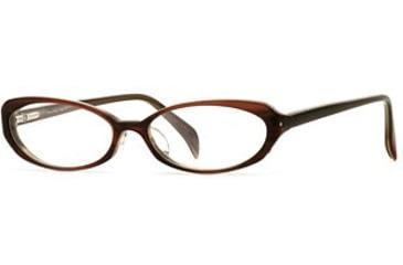 Laura Ashley Lana SELA LANA00 Progressive Prescription Eyeglasses - Amber SELA LANA005335 BN