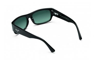Maui Jim Lava Flow Sunglasses w/ Gloss Black Frame and Neutral Grey Lenses - GS250-02, Back View