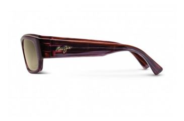 Maui Jim Lava Flow Sunglasses w/ Burgundy Tortoise Frame and HCL Bronze Lenses - HS250-10B, Side View