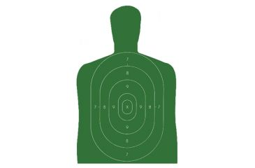 Law Enforcement Targets B-27E Economy Silhouette Target 23x35 Inch Green 100 Per Case