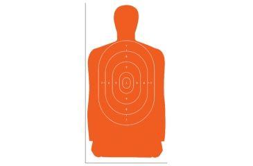 1-Law Enforcement Targets B-27S Standard Silhouette Target 24x45 Inch Orange 100 Per Case B-27S-ORANGE