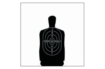 Law Enforcement Targets B-34 25 Yard Reduction Of B-27 Police Silhouette 17.5x23 Inch Black 100 Per Case