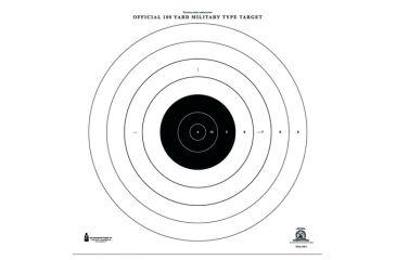 1-Law Enforcement Targets NRA-SR-1 100 Yard Rapid Fire Military Target 21x21 Inch Black/White 100 Per Case