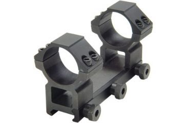 Leapers Accushot Weaver Style 30mm Full Size Integral High Profile, See-Thru Mount, For Scopes Up to 74mm Obj., 4 Top Screws RGWM2PA-30H4