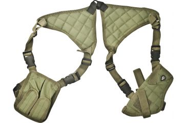 Leapers Deluxe Universal Horizontal Shoulder Holster, OD Green PVC-H170G