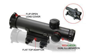 Leapers Golden Image 4x20 Combat Style Model 15 Range Estimating Mil-Dot Scope with BDC SCP-420MRG
