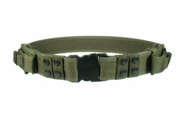 Leapers New Heavy Duty Elite LE Pistol Belt with Dual Mag Pouches - OD Green PVC-B950G-A