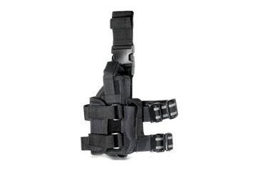 Leapers Adjustable Law Enforcement Tactical Leg Holster for Pistol/Flashlight/Laser Accessories Black