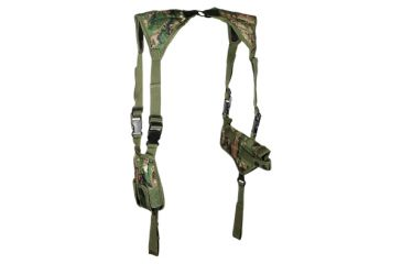 Leapers Deluxe Universal Horizontal Shoulder Holster - Woodland Digital