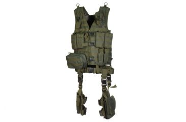 Leapers UTG Modular 10pc Tactical Vest - OD Green PVC-V747KTG