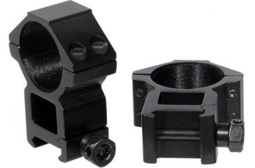 Leapers Weaver Style 30mm High Profile See-Thru Rings, Fits Scopes up to 56mm Obj., 4 Top Screws RGWM-30H4