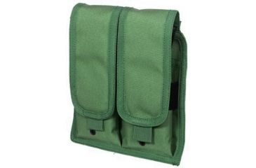 Leapers Universal Double Rifle Pouch w/Drain Holes & Velcro Closure - Green PVC-M503G