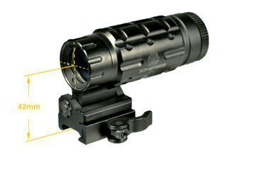Leapers UTG 3x Flip-to-Side Red Dot Magnifier SCP-MF3WQS